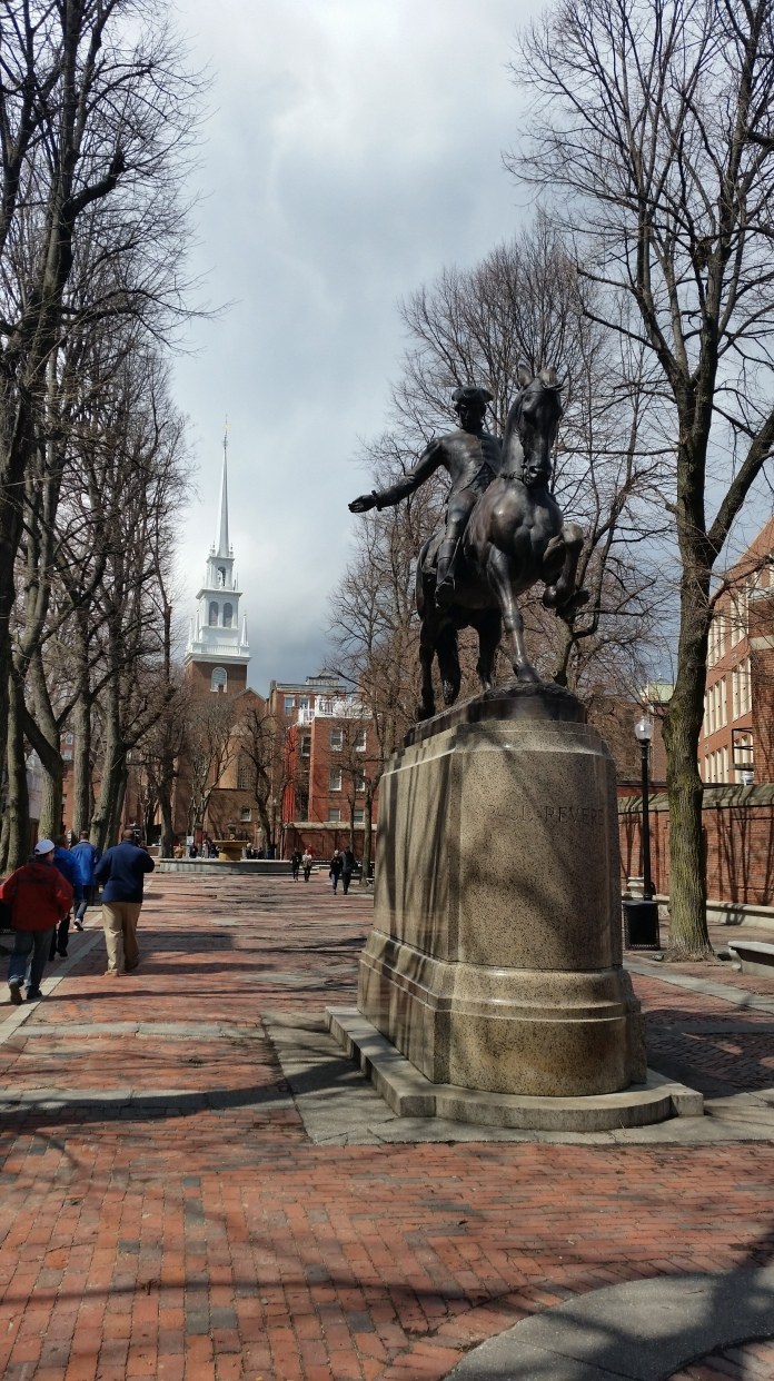 Paul Revere Mall. I haven't studied Paul Revere deeply, but it seemed like he was more of an average guy just very involved in his church and community. He was brave and patriotic and I think we can all learn something form him.