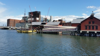 It was $25 to do a tour of the Boston Tea Party Museum, not worth it to me, but I walked around the gift shop and watched the people on the ship. They had pretend boxes of tea that you could throw overboard- cool idea.