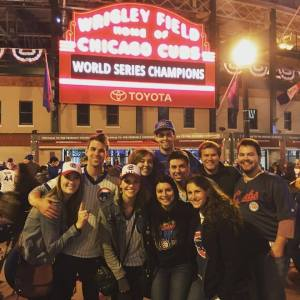 The day of the Cubs rally - 5th largest gathering in human history!